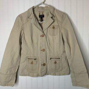 AEO tan cotton jacket size M